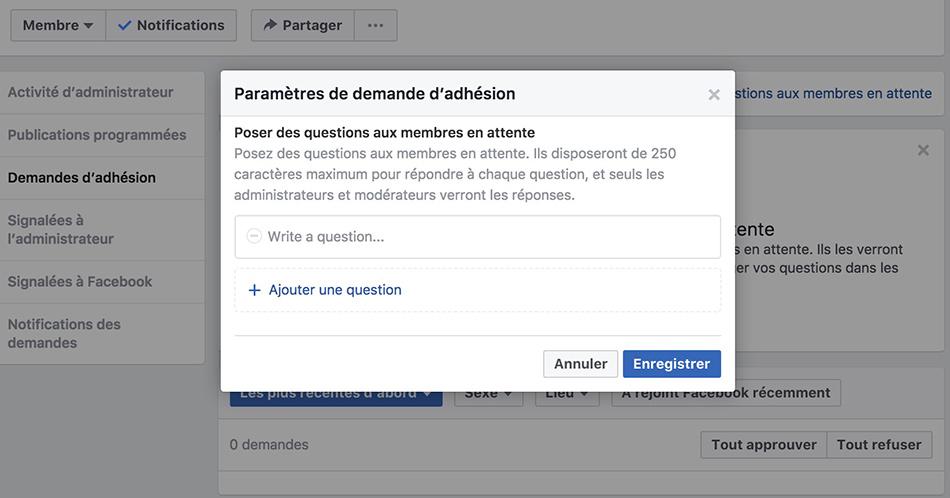 Marketing groupes Facebook